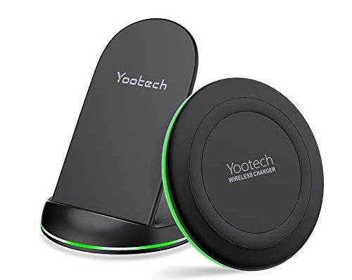 yootech wireless charger 2 pack qi zertifiziert wireless. Black Bedroom Furniture Sets. Home Design Ideas